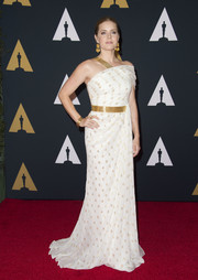 Amy Adams looked sublime in a polka-dot one-shoulder gown by Carolina Herrera at the Governors Awards.