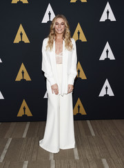 LeAnn Rimes donned a white wide-leg pantsuit for the 'Sherman Brothers: A Hollywood Songbook' presentation.