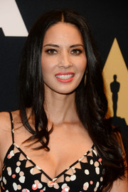 Olivia Munn wore her hair down in a feathery, center-parted 'do during the Academy of Motion Picture Arts and Sciences' Scientific and Technical Awards.