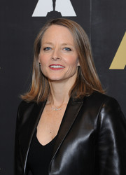 Jodie Foster attended the 'Silence of the Lambs' 25th anniversary event wearing a flippy 'do.