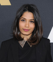 Freida Pinto attended the Academy Nicholl Fellowships Screenwriting Awards wearing the most perfectly sweet lob.