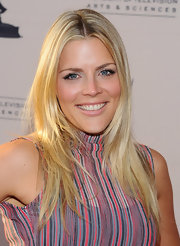 Busy Philipps was glowing at the 'Cougar Town' event with blond locks parted down the center.
