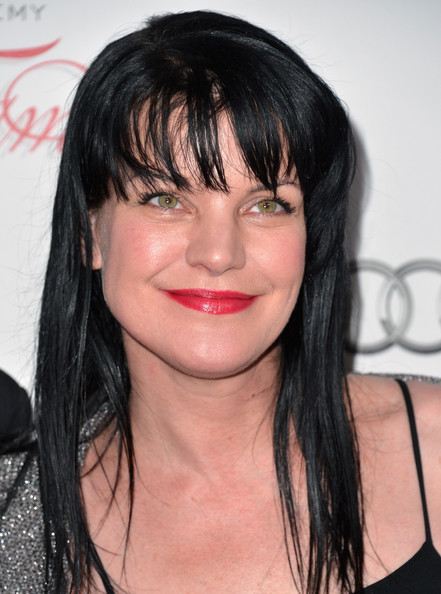 More Pics of Pauley Perrette Long Straight Cut with Bangs (4 of 7) - Long Straight Cut with Bangs Lookbook - StyleBistro