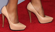 Kerry Washington stuck to classic nude pumps for her red carpet look at the 'Scandal' event in Hollywood.