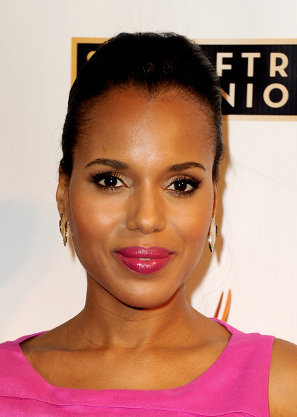 More Pics of Kerry Washington Classic Bun (1 of 15) - Kerry Washington Lookbook - StyleBistro