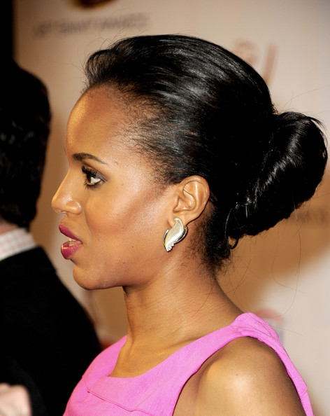 More Pics of Kerry Washington Classic Bun (4 of 15) - Classic Bun Lookbook - StyleBistro