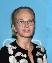 Ellen Barkin sported a brushed-back 'do at the Broadway opening of 'An Act of God.'