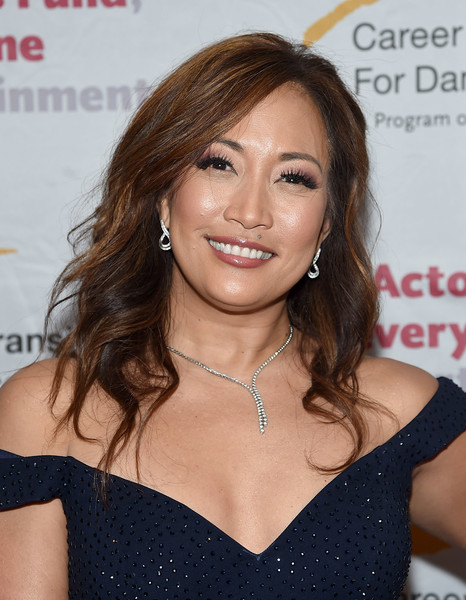 Carrie Ann Inaba styled her hair with feathery waves for the Actors Fund's Career Transition for Dancers 2017 Jubilee Gala.