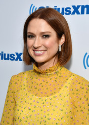 Ellie Kemper opted for a simple, classic bob when she attended the Unmasked event.
