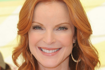 Marcia Cross Dons Radiant Red Medium Curls