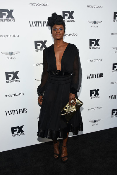 Adina Porter Metallic Clutch