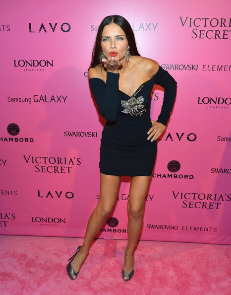 Adriana Lima Off-the-Shoulder Dress
