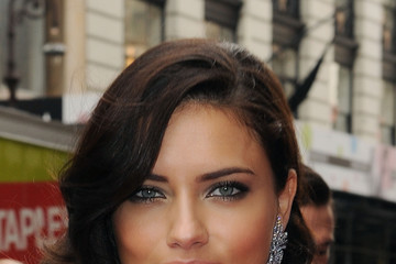 Adriana Lima With Easy to Manage Curly Hair