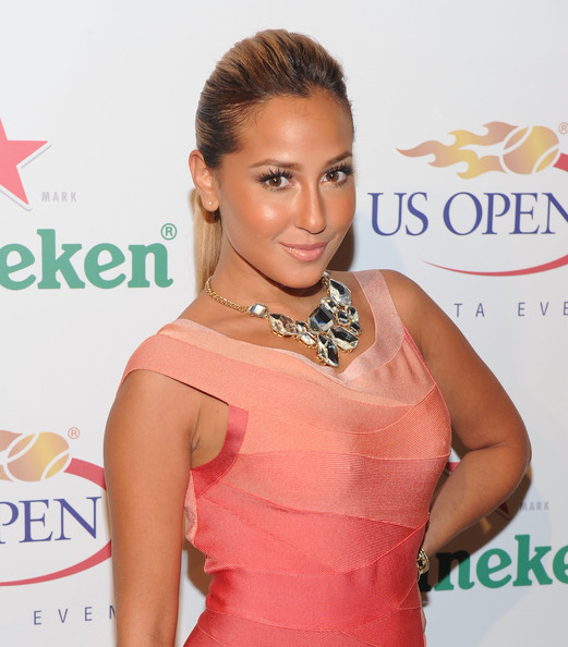 Adrienne Bailon Gemstone Statement Necklace