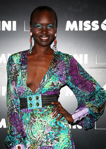 Alek Wek Dangling Gemstone Earrings