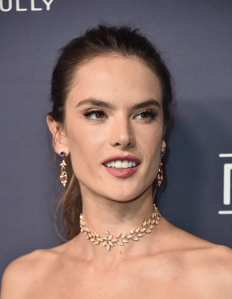 Alessandra Ambrosio Diamond Choker Necklace