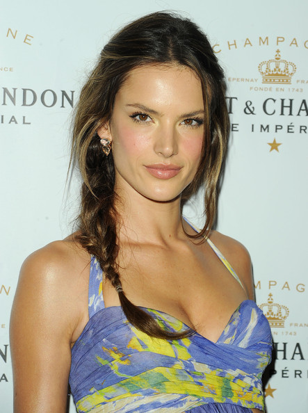 Alessandra Ambrosio Long Braided Hairstyle