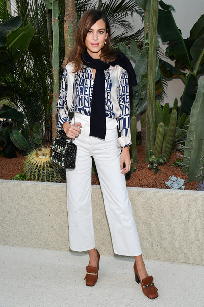 Alexa Chung Pumps [clothing,white,street fashion,fashion,jeans,blazer,shoulder,outerwear,footwear,trousers,jeans,valentino,alexa chung,front row,clothing,fashion,part,street fashion,paris fashion week womenswear spring,show,alexa chung,fashion,clothing,coat,trousers,it girl,valentino,jeans]