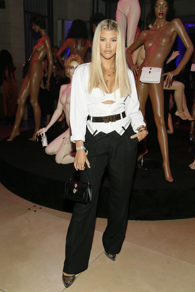 More Pics of Sofia Richie Slacks (1 of 4) - Pants & Shorts Lookbook - StyleBistro [fashion,fashion model,fashion show,runway,event,blond,fun,footwear,haute couture,model,alexander wang,sofia richie,bvlgari celebrate a.w.,712 fifth avenue,new york city,bvlgari]