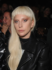 Lady Gaga rocked some seriously blunt bangs at the Alexander Wang fashion show.