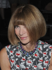 Anna Wintour sported a face-framing bob at the Alexander Wang Spring 2016 show.