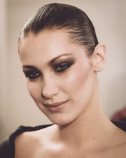 Bella Hadid looked super edgy with her smoky eyes.