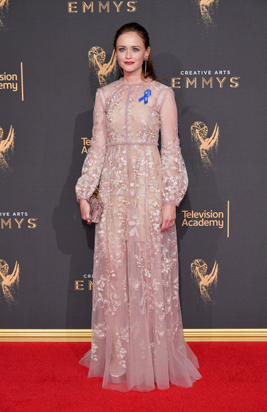 Alexis Bledel Embroidered Dress