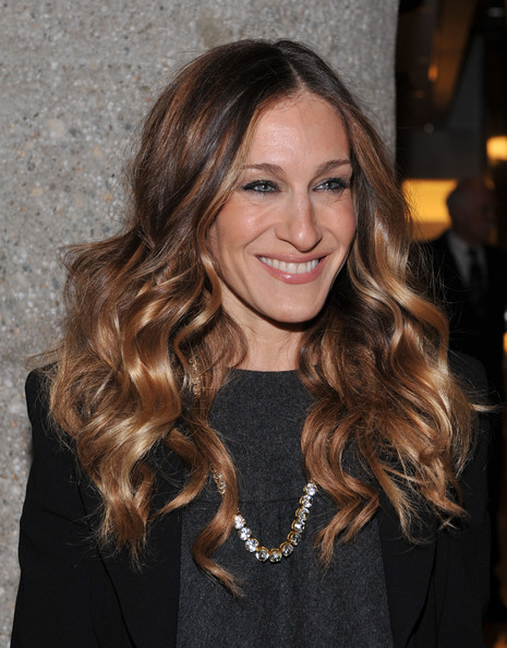 More Pics of Sarah Jessica Parker Tights (2 of 4) - Sarah Jessica Parker Lookbook - StyleBistro [ali in wonderland: and other tall tales,hair,hairstyle,face,long hair,brown hair,blond,layered hair,eyebrow,beauty,hair coloring,ali wentworth,sarah jessica parker,new york city,sothebys,book launch]