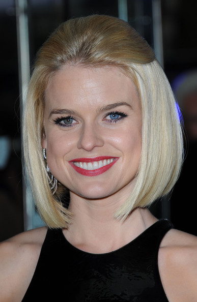 Alice Eve Red Lipstick [men in black 3,hair,face,blond,hairstyle,eyebrow,chin,lip,beauty,forehead,shoulder,alice eve,london,england,odeon leicester square,men in black 3 - uk film premiere,premiere]