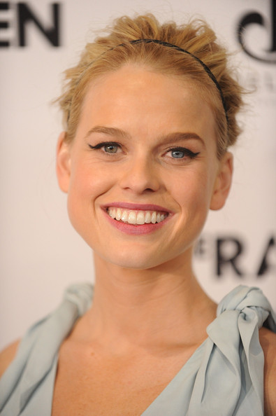 Alice Eve Retro Eyes [the raven,hair,face,eyebrow,hairstyle,skin,lip,facial expression,blond,chin,beauty,alice eve,new york city,landmark sunshine cinema,deleon tequila presents a special ny screening]