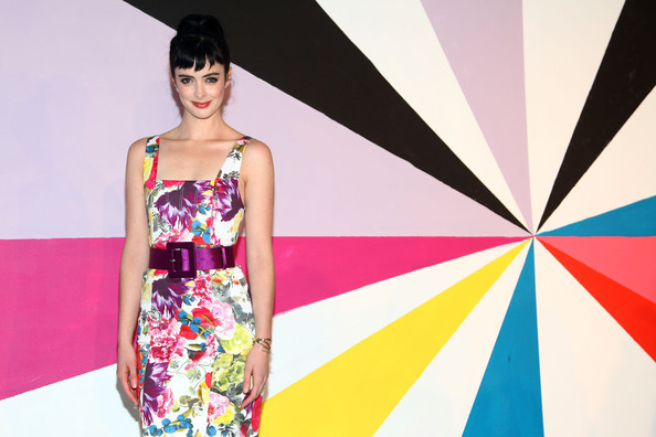 More Pics of Krysten Ritter Print Dress (2 of 5) - Krysten Ritter Lookbook - StyleBistro