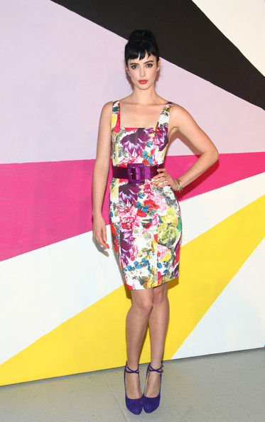 More Pics of Krysten Ritter Print Dress (5 of 5) - Krysten Ritter Lookbook - StyleBistro