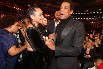 Alicia Keys Jay-Z 60th Annual GRAMMY Awards - Roaming Show