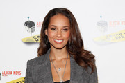Alicia Keys' Long Wavy Hair at a Photocall for 'Stick Fly'