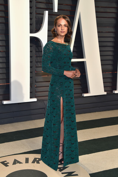 Alicia Vikander Lace Dress
