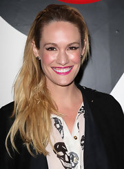 Ashlan Gorse attended the All In for the 99% Event wearing her hair casually tousled and swept to the side.