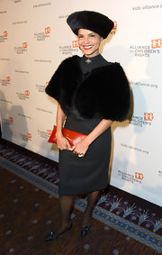 Victoria Rowell chose a black fur stole for her evening look at The Alliance for Children's Rights dinner.