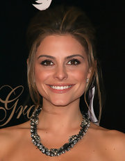 Maria Menounos wore her hair in a voluminous updo at Alliance for Women in Media's 2010 Gracies Awards.