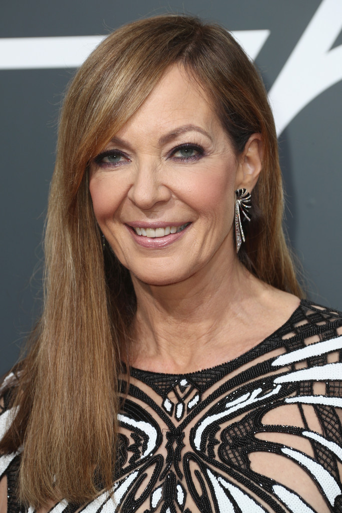 Allison Janney Long Straight Cut With Bangs Long