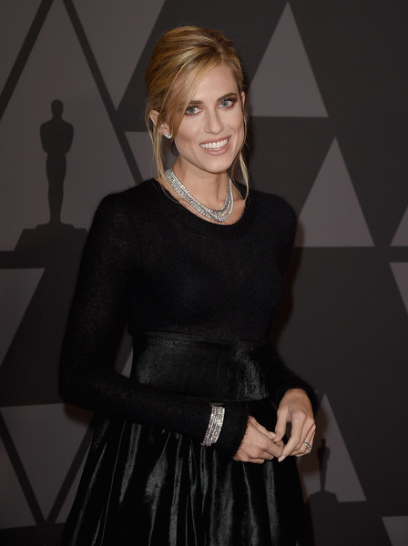 Allison Williams Diamond Bracelet [little black dress,dress,fashion,blond,cocktail dress,smile,fashion design,allison williams,hollywood highland center,california,the ray dolby ballroom,academy of motion picture arts and sciences,9th annual governors awards]