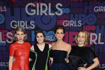 Allison Williams Zosia Mamet 'Girls' Season 4 Premiere in NYC