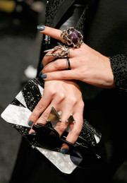 Crystal Renn rocked some statement rings at the Alon Livne Spring 2014 show.