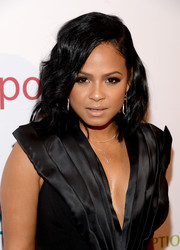 Christina Milian opted for this shoulder-length wavy hairstyle when she attended the Power Up Gala.