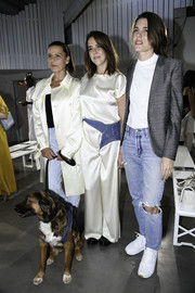Charlotte Casiraghi kept it casual all the way down to her white trainers.