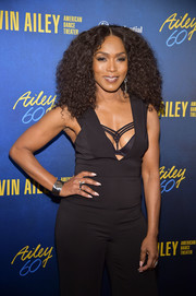 Angela Bassett styled her black outfit with a silver cuff for the Alvin Ailey American Dance Theater's 60th anniversary gala.