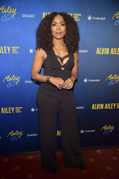 Angela Bassett rocked a black jumpsuit with a plunging neckline at the Alvin Ailey American Dance Theater's 60th anniversary gala.