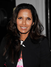 Padma's slightly wavy tresses had some serious shine.