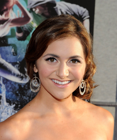 Alyson Stoner Dangling Diamond Earrings