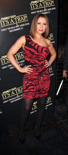 Alyssa Milano One Shoulder Dress