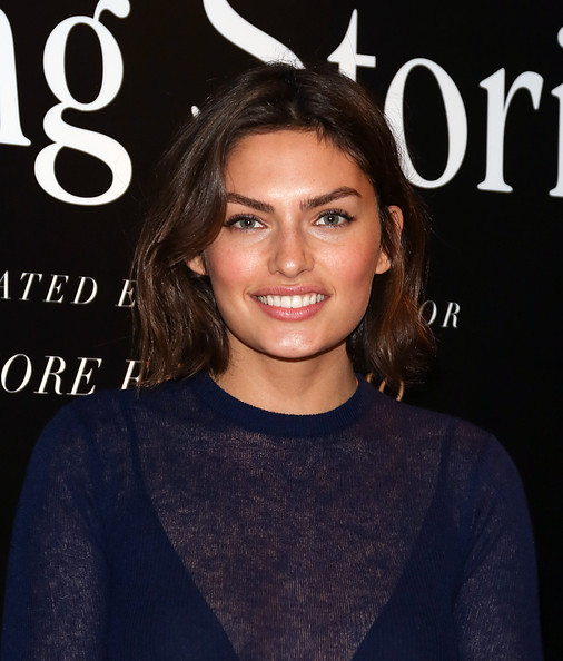 Alyssa Miller Short Wavy Cut [hair,hairstyle,eyebrow,beauty,lip,brown hair,long hair,premiere,dress,neck,winter collection,ferragamo,stefano tonchi,alyssa miller,ferragamo fall,new york city,vip screening of premier film walking stories,vip screening of premier film walking stories]